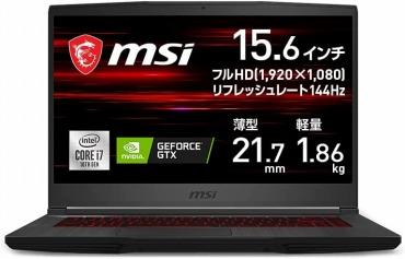 15万円以下 : ゲーミングPC MSIゲーミングノート GF65