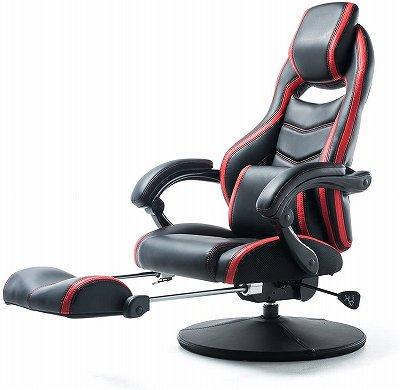 サンワダイレクト ゲーミング座椅子:オットマン付き