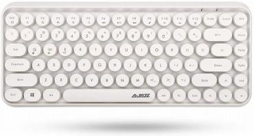 モダンで丸いキーのキーボード