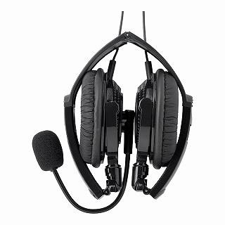 iBUFFALO 両耳ヘッドバンド式ヘッドセット USB接続/折りたたみ