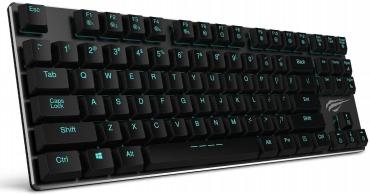 HAVIT HV-KB390L 薄型メカニカルキーボード 青軸 Kailh 87キー