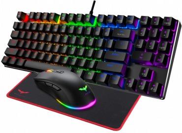 HAVIT KB486L ゲーミングキーボード 赤軸