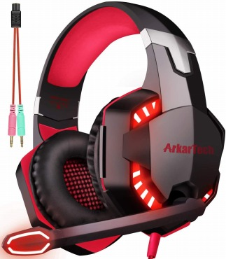 ARKARTECH G2000 ゲーミング ヘッドセット:子供も装着可能