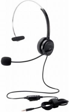 エレコム ヘッドセット 4極ミニプラグ 片耳 HS-HP29TBK