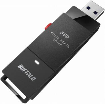 バッファロー SSD-PUT1.0U3-B/N 小型 コンパクト ポータブル