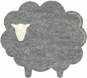 かわいいマウスパッド 羊の形