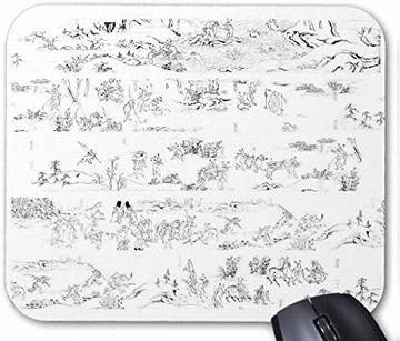 おしゃれな鳥獣人物戯画のマウスパッド