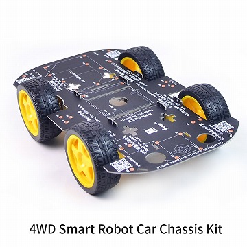 モーター付き4WDロボットシャーシキット ラズパイ対応