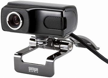サンワサプライ Webカメラ 500万画素 マイク内蔵:CMS-V40BK