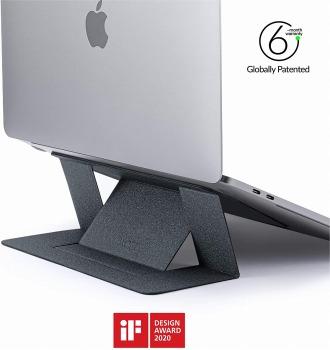 MOFTノートパソコンスタンド 不可視軽量ノートパソコンスタンド MacBook/Air/Pro タブレット ノートパソコン対応 最大15.6インチ 特許取得済み スターグレー