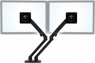 エルゴトロン MXV デュアル デスクモニターアーム マットブラック 45-496-224
