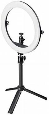 サンワサプライ スタンド付きリングライト WEBカメラ対応 CMS-STN2BK