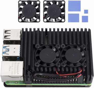 Raspberry Pi 4 冷却ファン付きケース : SunFounder
