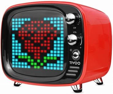 Divoom TIVOO レトロTV型モニター搭載 Bluetoothスピーカー レッド
