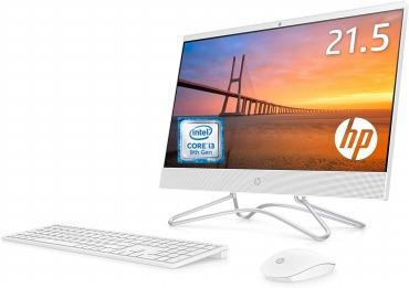 HP 液晶一体型 オールインワン デスクトップパソコン HP All-in-One 22 ピュアホワイト 21.5インチ フルHD