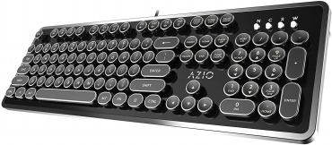 Azio MK RETRO タイプライター風 メカニカルキーボード  USB接続