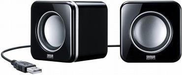 サンワサプライ USBスピーカー(ブラック) MM-SPU8BK