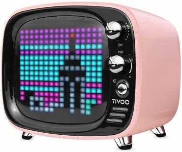 Divoom TIVOO レトロTV型モニター搭載 Bluetoothスピーカー ピンク