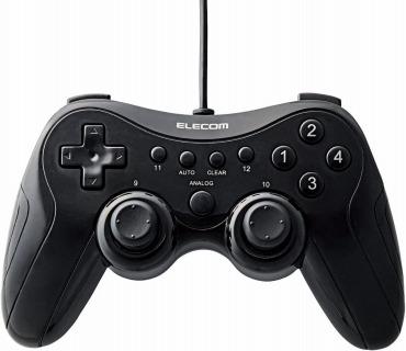 エレコム ゲームパッド 12ボタン 振動・連射機能搭載 JC-FU2912FBK