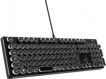 HKW タイプライター風メカニカルキーボード 青軸 日本語キーボード