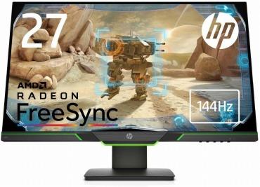 HP ゲーミングモニター 27インチ ディスプレイ 2K マイクロエッジ 4ms 144Hz駆動速度 HP X27i Gaming Monitor
