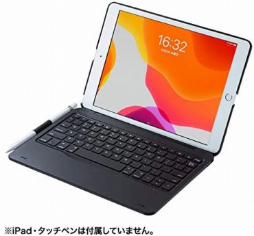 サンワサプライ SKB-BTIPAD1BK 10.2インチiPad専用ケース付きキーボード