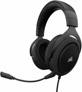Corsair HS50 STEREO Gaming Headset-Carbon- ゲーミングヘッドセット ノイズキャンセリングマイク