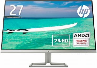 HP モニター 27インチ ディスプレイ フルHD 非光沢IPSパネル 高視野角