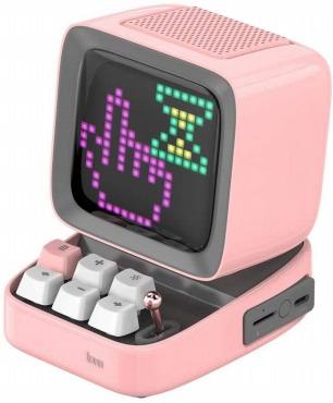 Divoom - DITOO Pink Bluetoothスピーカー ピンクブルートゥース ゲームも楽しめるスピーカー