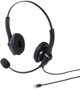 サンワダイレクト 電話機用 ヘッドセット RJ-9接続 両耳 400-HS041