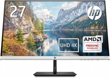 HP モニター 27インチ 4K ディスプレイ 解像度3840x2160 非光沢 IPSパネル 高視野角 超薄型 省スペース HP 27f 4K