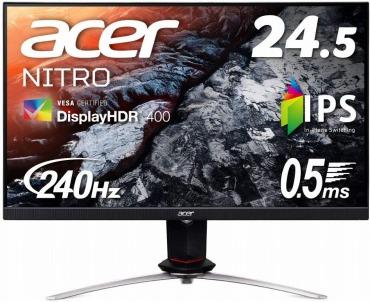 Acer ゲーミングモニター Nitro XV253QXbmiiprzx 24.5インチ 240Hz
