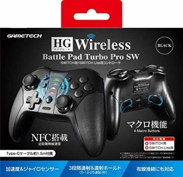 マクロ対応 無線コントローラ HG ワイヤレスバトルパッドターボProSW - Switch/PC対応