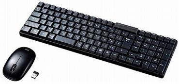 サンワサプライ キーボード マウスセット SKB-WL34SETBK