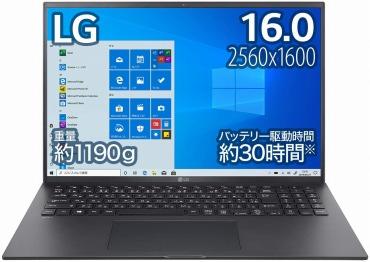 LG ノートパソコン gram 1190g/Core i7/16インチ