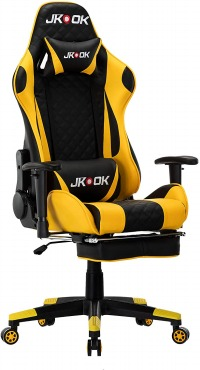 JKOOK ゲーミングチェア 通気性 PUレザー