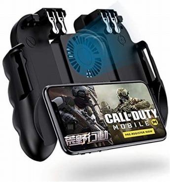 使命召唤 コントローラー【最新6本指】 荒野行動 PUBG Mobile call of duty ゲームコントローラー 冷却ファン付き