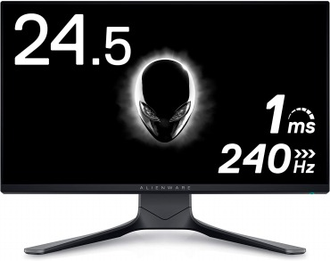 Dell ALIENWARE ゲーミングモニター 24.5インチ AW2521HF FPS向き/1ms/240Hz/FreeSync