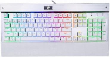 e元素ゲーミングキーボードZ-77 青軸メカニカル式キーボード パームレスト付き