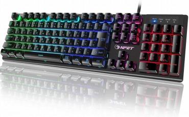 NPET ゲーミングキーボード LED バックライト