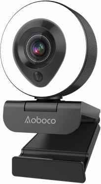 webカメラ ウェブカメラ フルHD1080p 200万画素 リングフィルライト付き