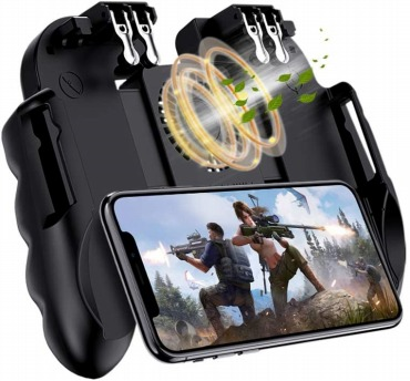 荒野行動 PUBG Mobile 使命召唤 コントローラー 6本指 サイレント冷却 5S高速放熱 高感度 耐久 射撃ボタン スマホゲーム コントローラー