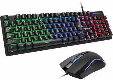 NPET ゲーミングキーボード マウス セット