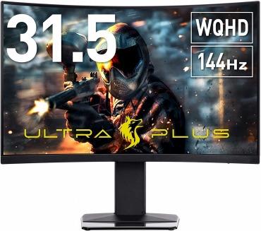 プリンストン ULTRA PLUS 曲面 ゲーミングモニター 31.5型 WQHD/144Hz/PTFGHB-32C