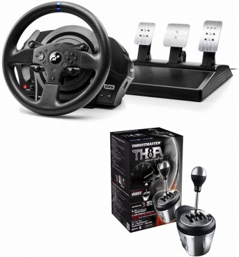 Thrustmaster T300RS GT Racing Wheel+ ThrustmasterTH8A Shifter セット
