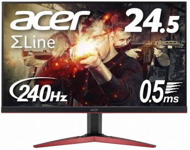 Acer ゲーミングモニター SigmaLine 24.5インチ KG251QIbmiipx 240Hz