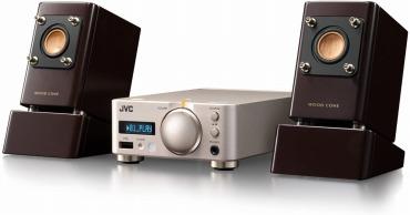 JVC ウッドコーンシリーズ EX-NW1 コンパクトコンポ ハイレゾ音源対応