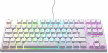 Xtrfy(エクストリファイ)K4 RGB 英語配列 赤軸メカニカル ゲーミングキーボード ホワイト
