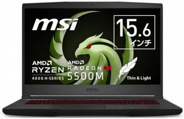 MSIゲーミングノートPC AMD Ryzen7 4800H 15.6インチ