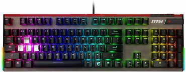MSI ゲーミングキーボード Vigor GK80 CS JP 銀軸